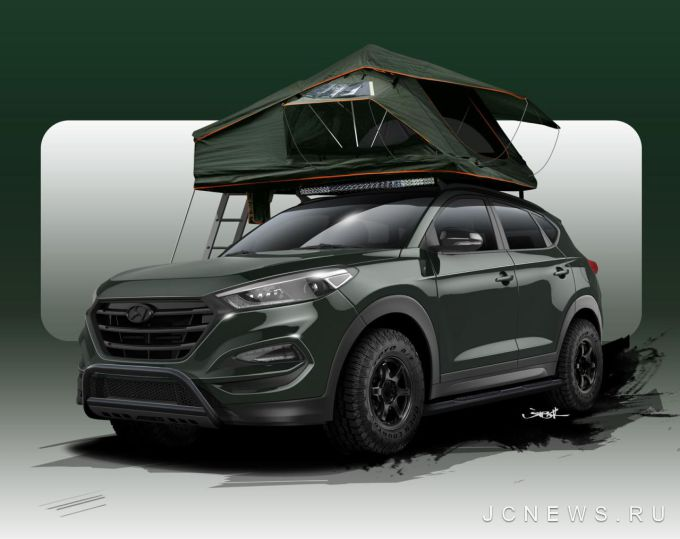 Hyundai Tucson Adventuremobile показали перед SEMA